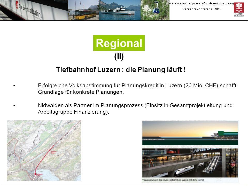 Verkehrskonferenz 2010 Regional (III) - Rahmenplan Bahnhof Luzern der SBB zeigt die mittel- und langfristige Entwicklung des Knotens im Planungsdreieck Angebot/ Rollmaterial/ Infrastruktur.