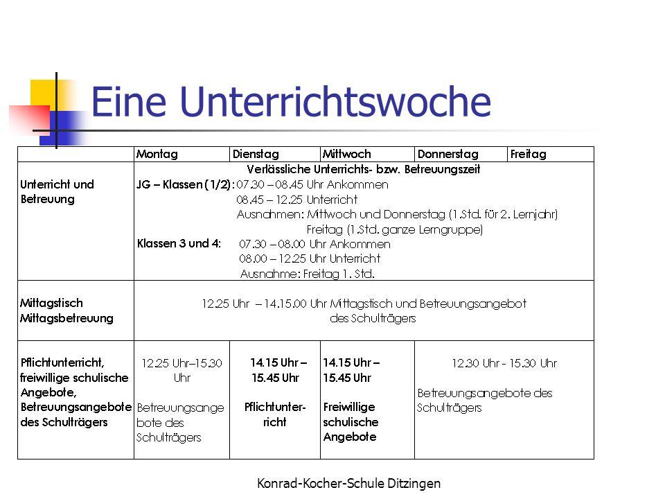 Konrad-Kocher-Schule Ditzingen Eine Unterrichtswoche