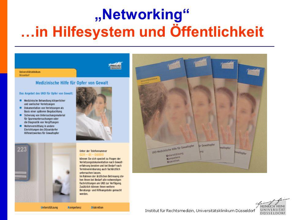 Institut für Rechtsmedizin, Universitätsklinikum Düsseldorf Networking …in Hilfesystem und Öffentlichkeit