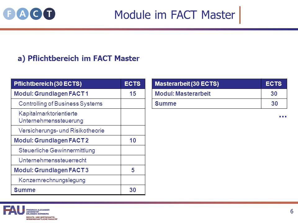 Auswahl der Module I b) Vertiefungs- und Ergänzungsbereich (60 von 300 ECTS) Studienplan stellt nur eine Empfehlung dar.