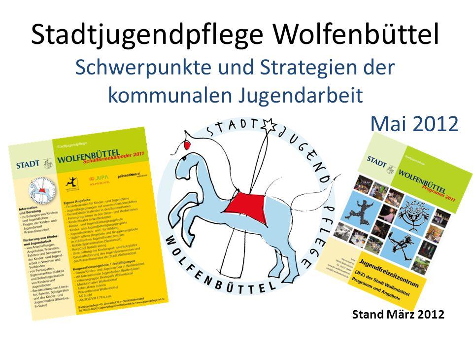 Stadtjugendpflege Wolfenbüttel Aufgabe Die Jugendarbeit beziehungsweise Kinder- und Jugendarbeit ist nach § 11 Sozialgesetzbuch (SGB) VIII ein Teil der Jugendhilfe.