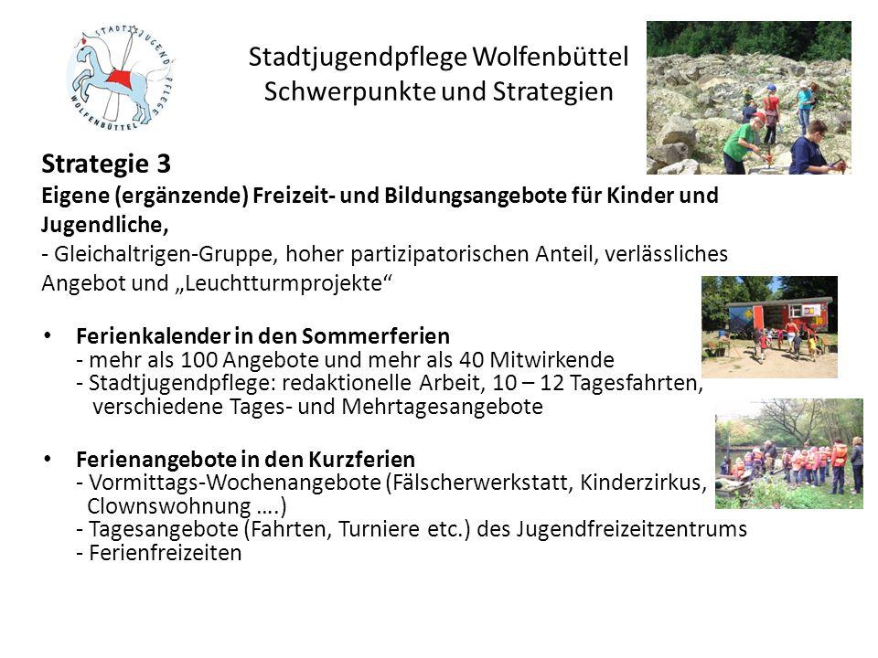 Stadtjugendpflege Wolfenbüttel Schwerpunkte und Strategien Ferienkalender in den Sommerferien - mehr als 100 Angebote und mehr als 40 Mitwirkende - St