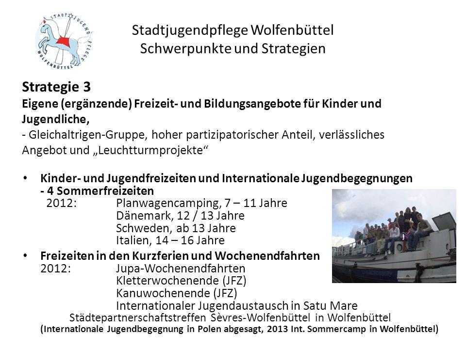 Stadtjugendpflege Wolfenbüttel Schwerpunkte und Strategien Kinder- und Jugendfreizeiten und Internationale Jugendbegegnungen - 4 Sommerfreizeiten 2012