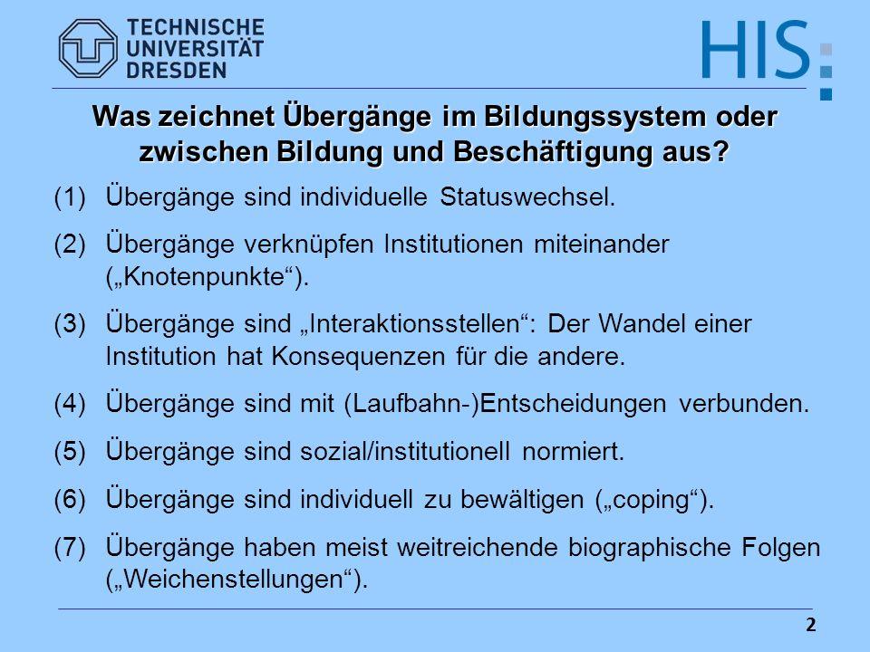13 Soziale Herkunft der Studierenden in Deutschland – Kontrastgruppenvergleich 1911 bis 2003 (in %)