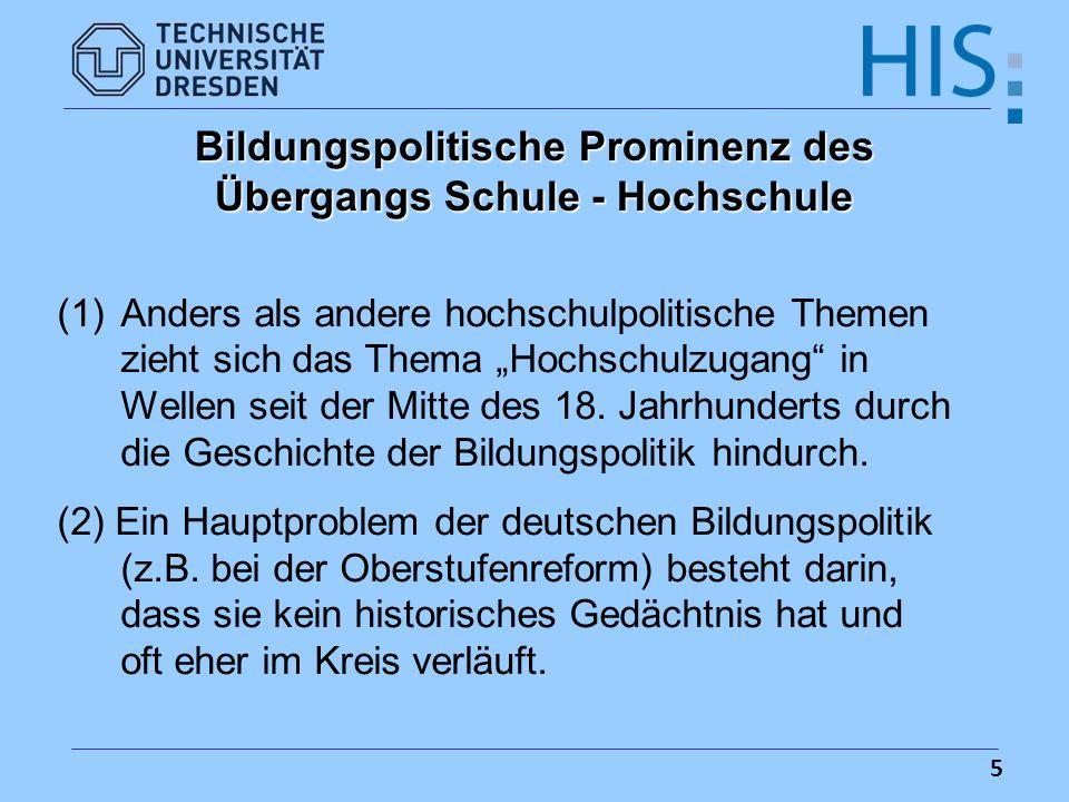 16 Zusammensetzung der deutschen Studienanfänger(innen) nach Art der Studienberechtigung/Vorbildung, 2003 (in %)