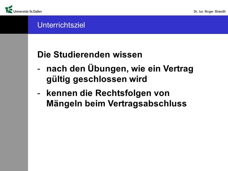 Dr.iur. Roger Brändli Das Erfordernis der ordnungsmässigen Absendung nach Art.