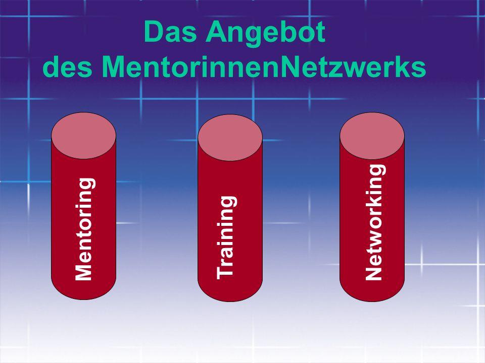 Das Angebot des MentorinnenNetzwerks Mentoring Training Networking