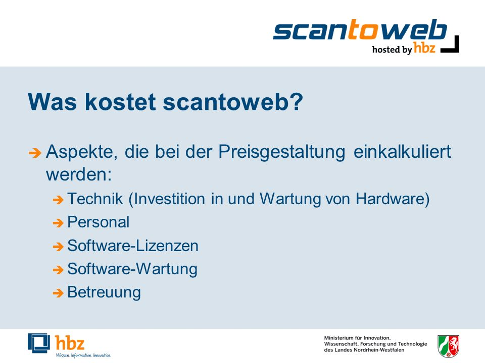 Was kostet scantoweb.