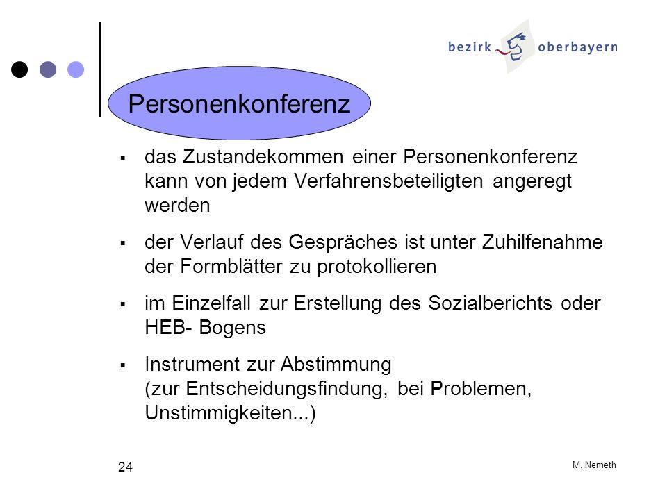 M. Nemeth 24 das Zustandekommen einer Personenkonferenz kann von jedem Verfahrensbeteiligten angeregt werden der Verlauf des Gespräches ist unter Zuhi