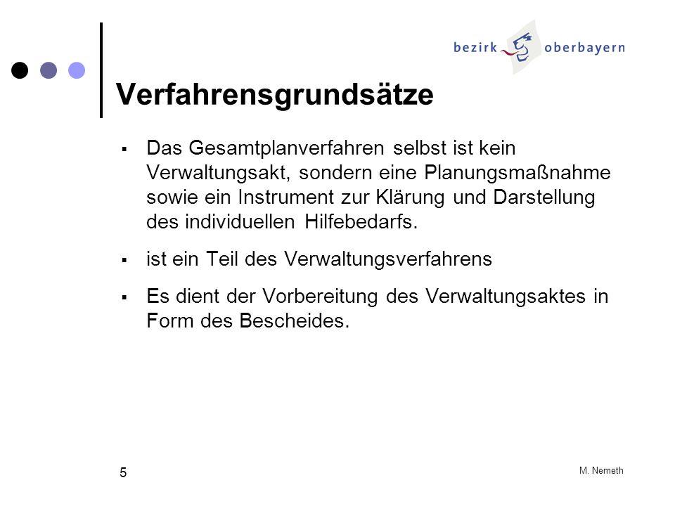 M. Nemeth 5 Verfahrensgrundsätze Das Gesamtplanverfahren selbst ist kein Verwaltungsakt, sondern eine Planungsmaßnahme sowie ein Instrument zur Klärun