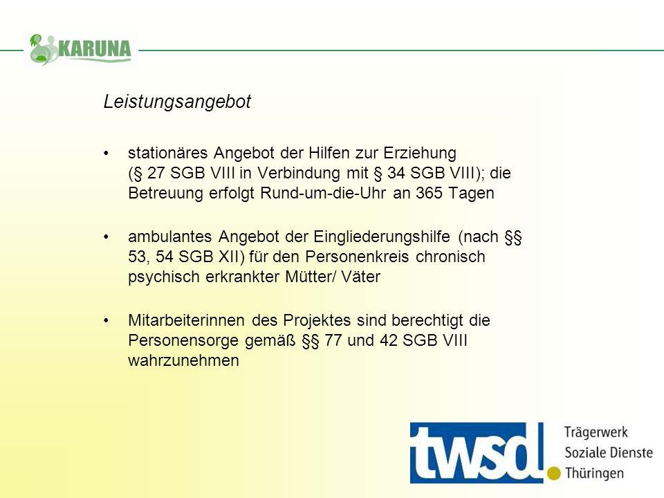 stationäres Angebot der Hilfen zur Erziehung (§ 27 SGB VIII in Verbindung mit § 34 SGB VIII); die Betreuung erfolgt Rund-um-die-Uhr an 365 Tagen ambul
