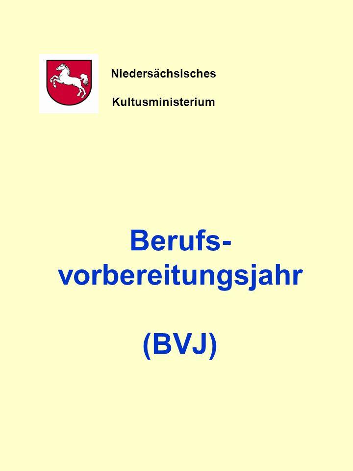 Berufs- vorbereitungsjahr (BVJ) Niedersächsisches Kultusministerium