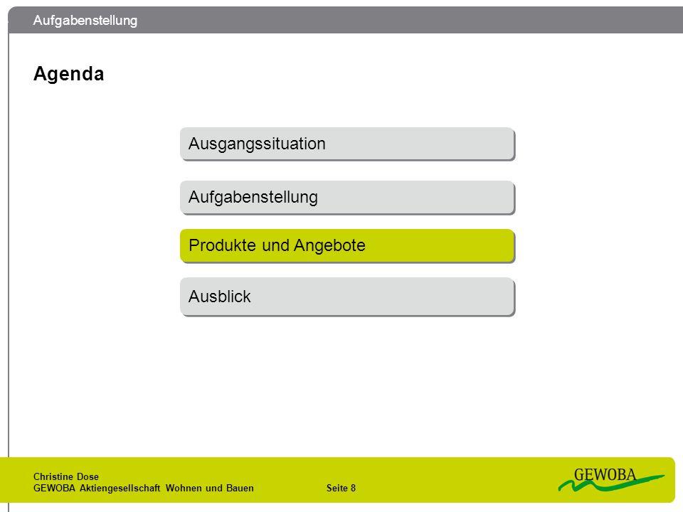 Produkte und Angebote Christine Dose GEWOBA Aktiengesellschaft Wohnen und Bauen Seite 9 1.