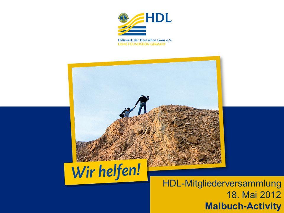 HDL-Mitgliederversammlung 18. Mai 2012 Malbuch-Activity