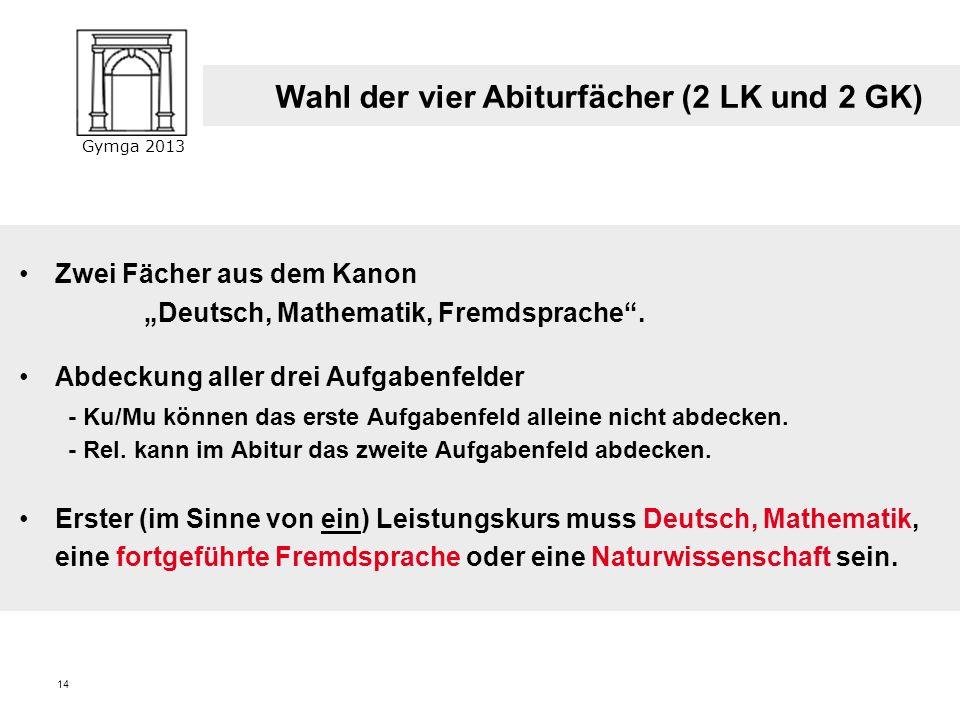 Gymga 2013 13 Zentrale Klausuren am Ende der Einführungsphase Deutsch, Mathematik 2. Klausur im 2. Halbjahr keine Zweitkorrektur, aberschulinterne Eva