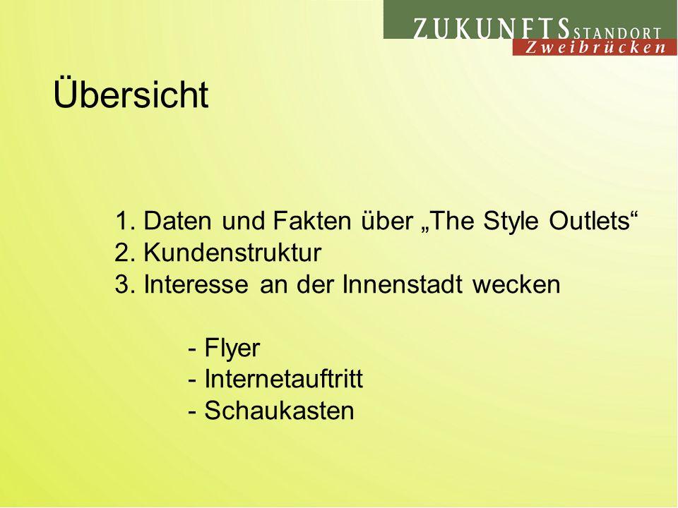 1. Daten und Fakten über The Style Outlets 2. Kundenstruktur 3.