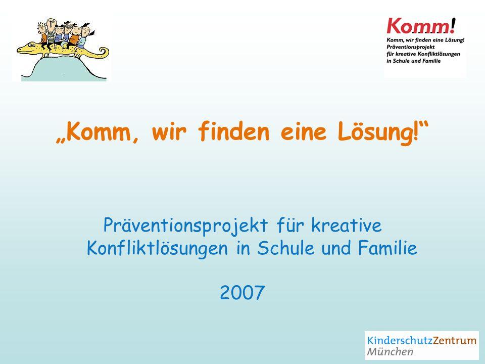 Unser Angebot für Eltern Elternabend zu Projektinformation Vorstellung der Trainingsmodule Eltern-Kinder-Abend Eltern-Training