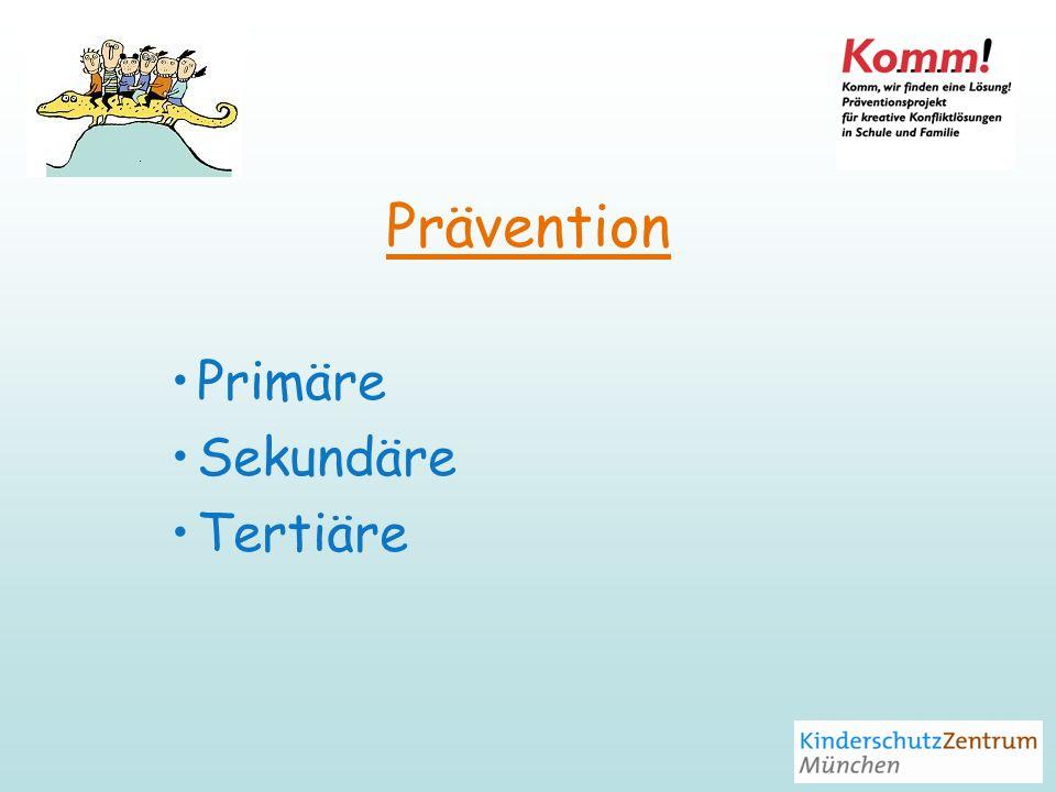 Primäre Prävention Vorbeugung bereits im Vorfeld Ziel: frühzeitiges Handeln