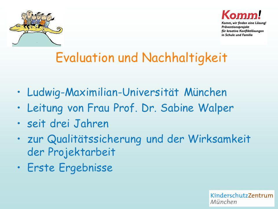 Evaluation und Nachhaltigkeit Ludwig-Maximilian-Universität München Leitung von Frau Prof.