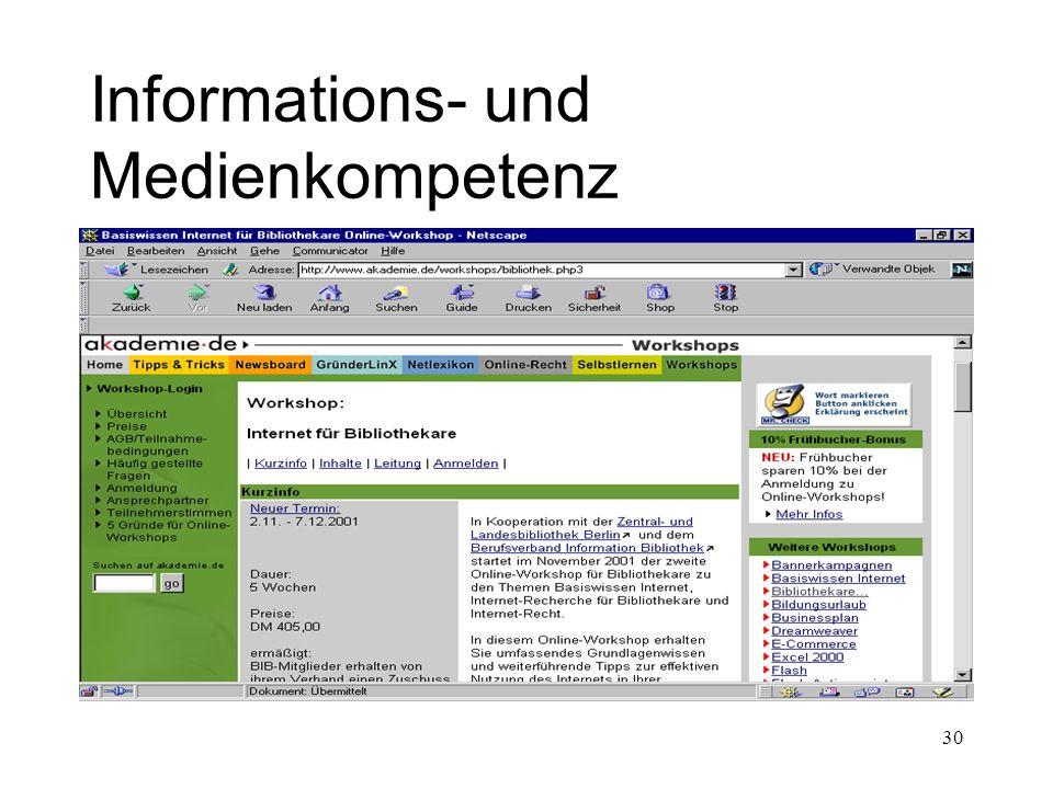 30 Informations- und Medienkompetenz
