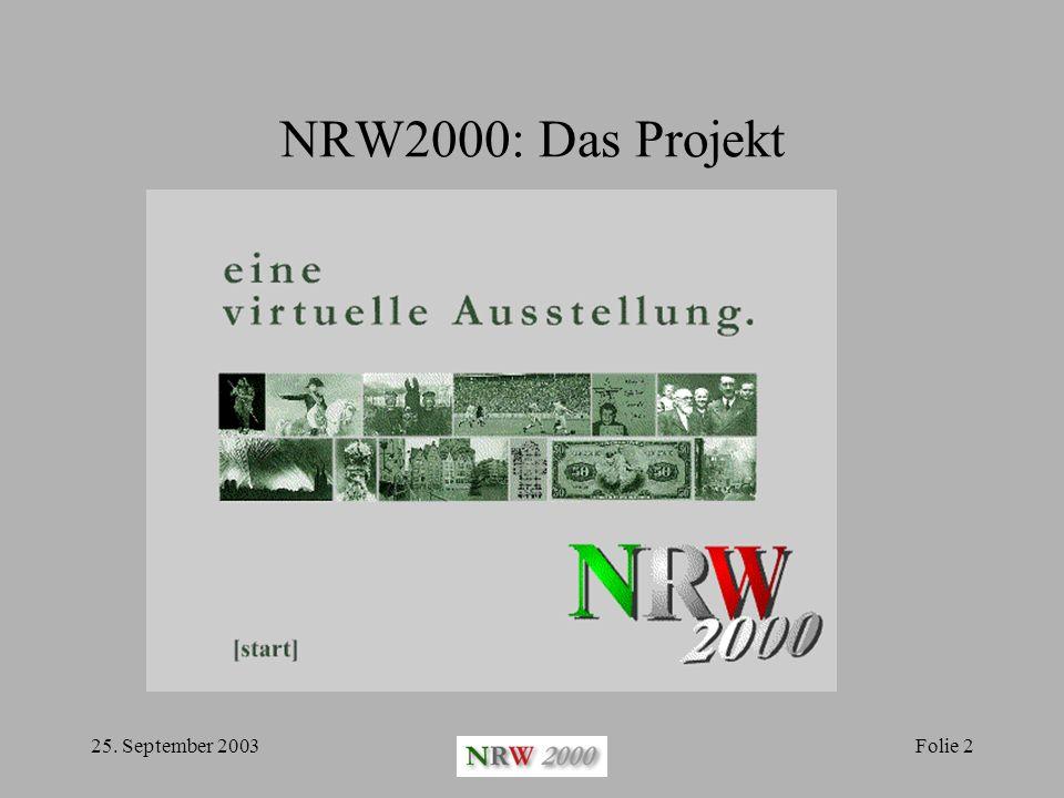 25.September 2003Folie 13 Mediendiaktische Fragen Die Orientierung der User: Wo bin ich.