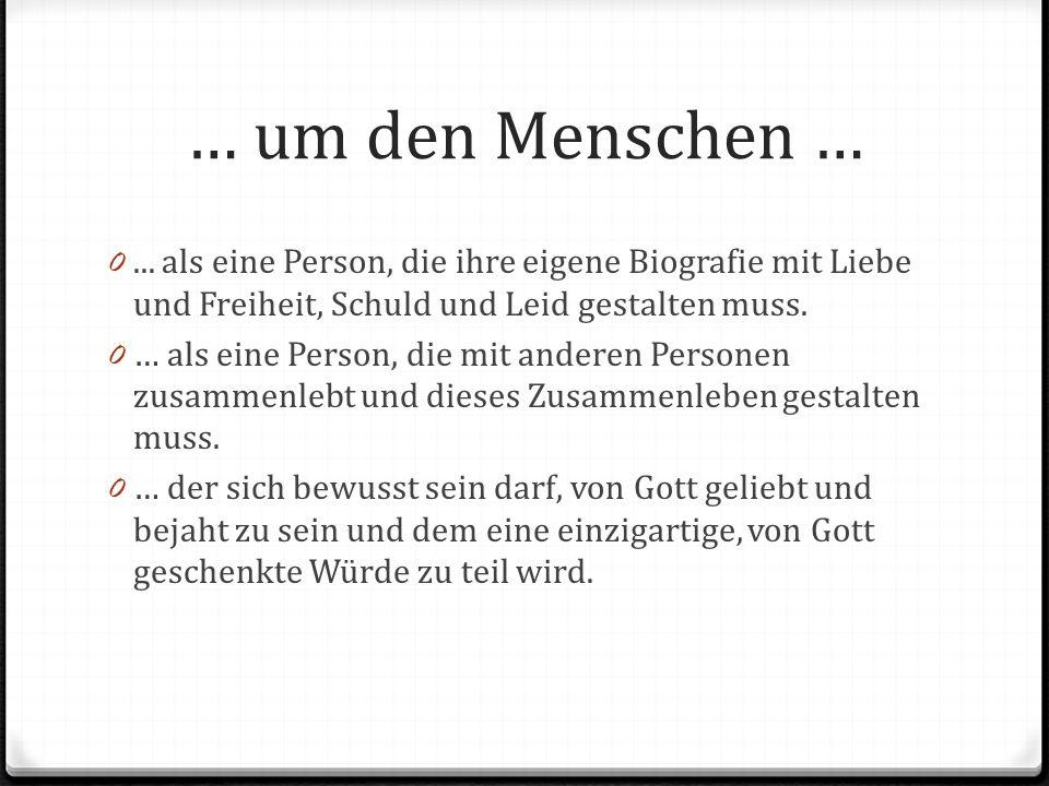 … um den Menschen … 0...