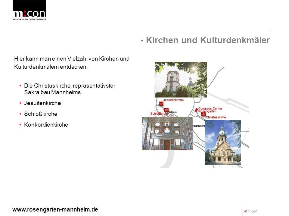 - Kirchen und Kulturdenkmäler Hier kann man einen Vielzahl von Kirchen und Kulturdenkmälern entdecken: Die Christuskirche, repräsentativster Sakralbau