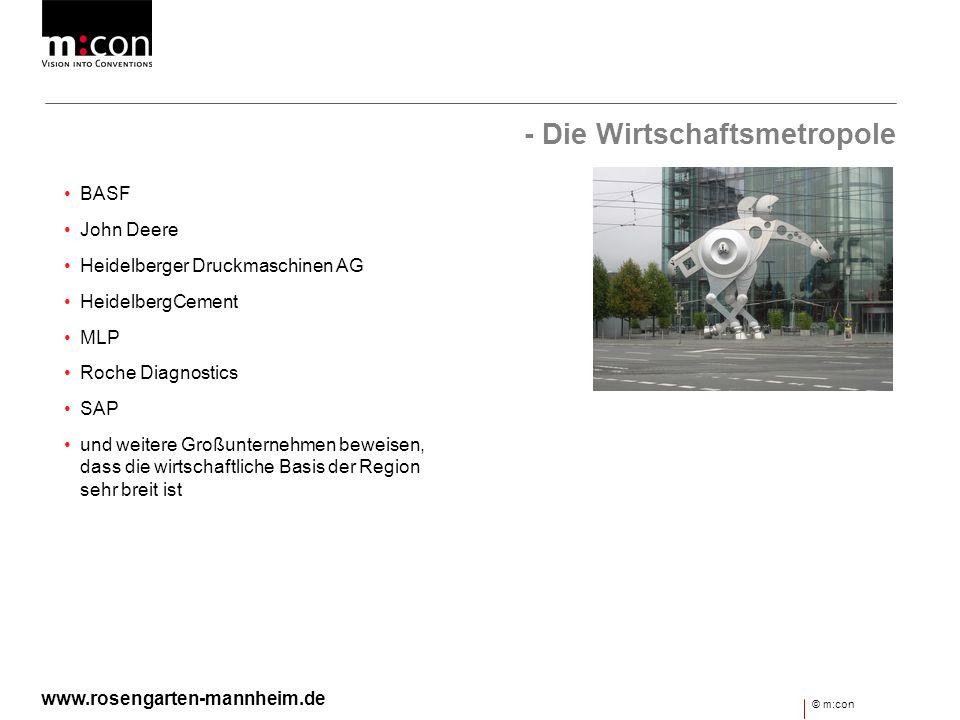 - Die Wirtschaftsmetropole BASF John Deere Heidelberger Druckmaschinen AG HeidelbergCement MLP Roche Diagnostics SAP und weitere Großunternehmen bewei