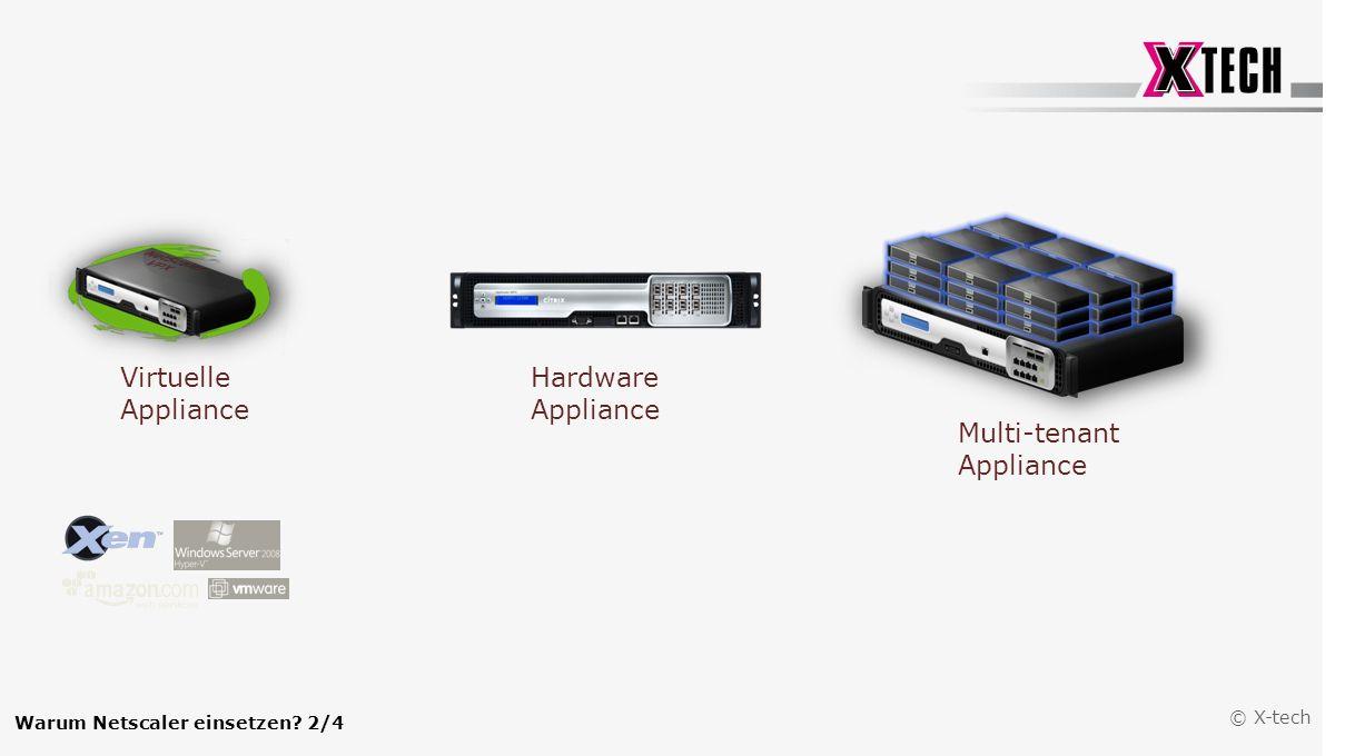 © X-tech Virtuelle Appliance Hardware Appliance Multi-tenant Appliance Warum Netscaler einsetzen? 2/4
