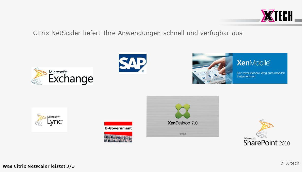 © X-tech Was ist Citrix Netscaler.Was Citrix Netscaler leistet Warum Citrix Netscaler einsetzen.