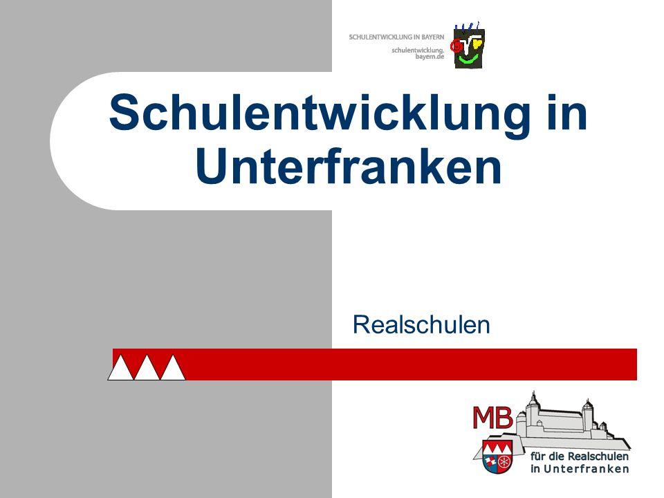 Schulentwicklung in Unterfranken Realschulen