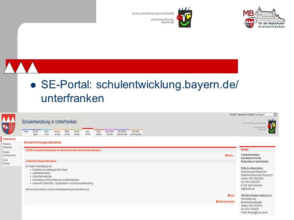 SE-Portal: schulentwicklung.bayern.de/ unterfranken