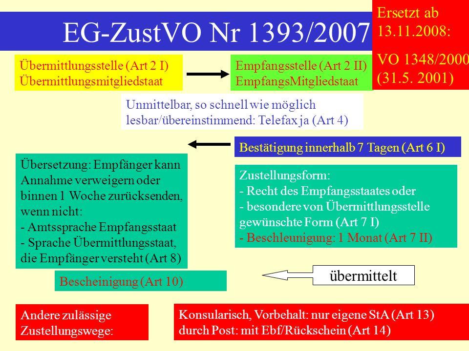 Anerkennungshindernisse Art 34 Nr 1 Brüssel I-VO Nr 1: ordre public - ordre public des Anerkennungsstaates, nicht EU-einheitlich, trotz Konvergenz keine Prüfungskompetenz des EuGH - Verfahrensrechtlich: nur elementare Garantien (Unparteilichkeit, Unabhängigkeit, Prozessbetrug) - Materiellrechtlich: nur elementare Gerechtigkeitswertungen, insb.
