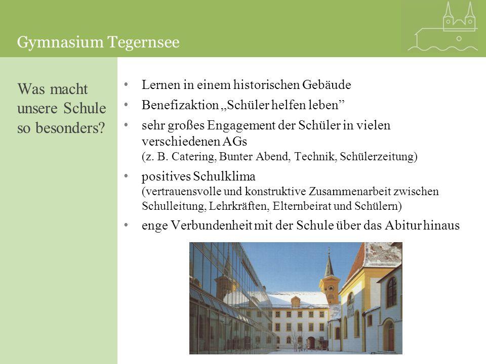 Gymnasium Tegernsee Lernen in einem historischen Gebäude Benefizaktion Schüler helfen leben sehr großes Engagement der Schüler in vielen verschiedenen