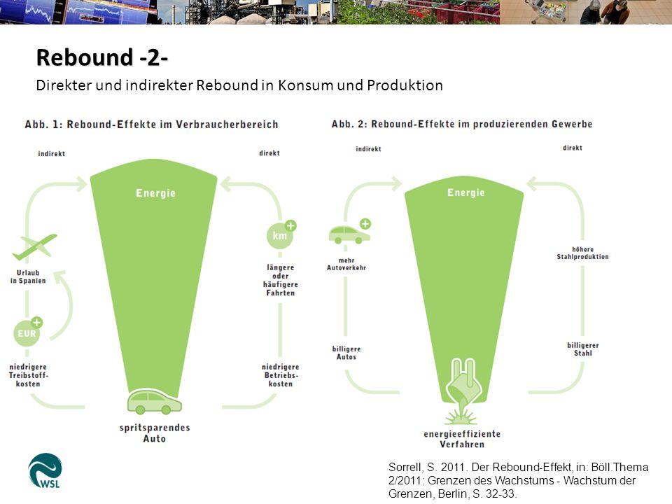 Sorrell, S. 2011. Der Rebound-Effekt, in: Böll.Thema 2/2011: Grenzen des Wachstums - Wachstum der Grenzen, Berlin, S. 32-33. Direkter und indirekter R