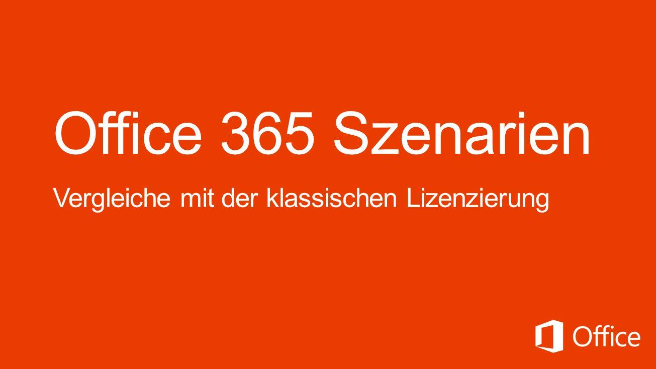 Office 365 Szenarien Vergleiche mit der klassischen Lizenzierung