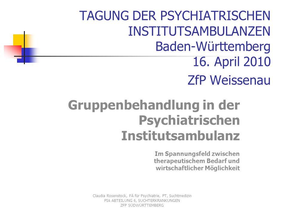 TAGUNG DER PSYCHIATRISCHEN INSTITUTSAMBULANZEN Baden-Württemberg 16.