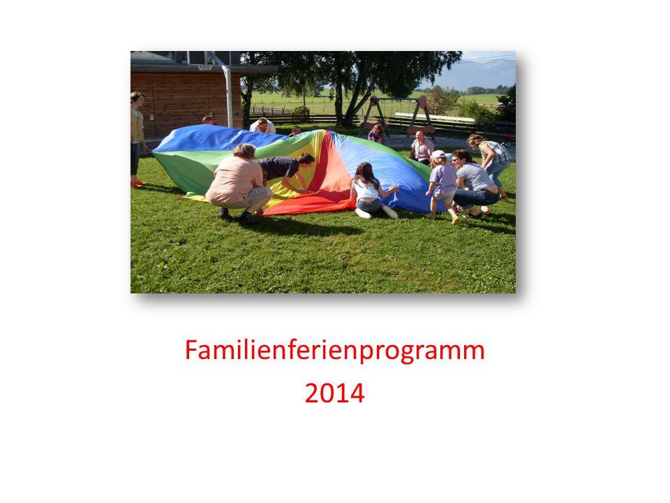 Familienferienprogramm 2014