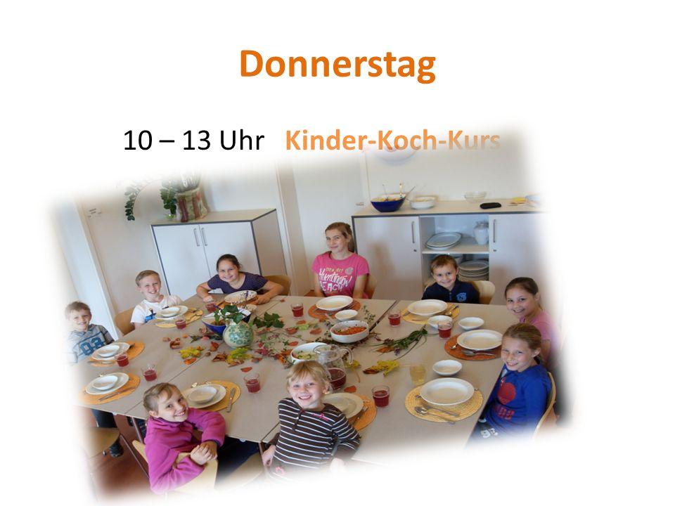 Donnerstag 10 – 13 Uhr Kinder-Koch-Kurs