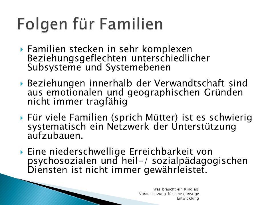 Familien stecken in sehr komplexen Beziehungsgeflechten unterschiedlicher Subsysteme und Systemebenen Beziehungen innerhalb der Verwandtschaft sind au