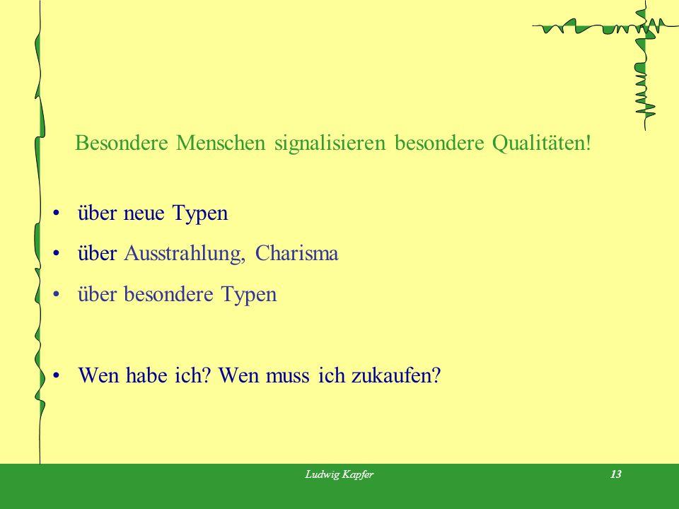 Ludwig Kapfer13 Besondere Menschen signalisieren besondere Qualitäten.