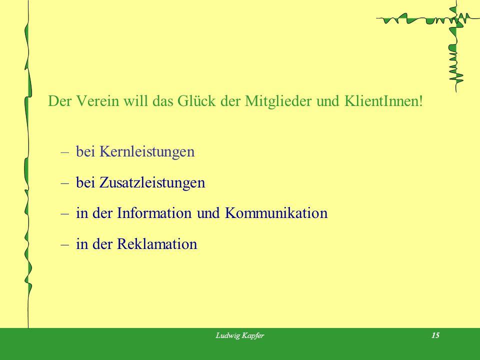 Ludwig Kapfer15 Der Verein will das Glück der Mitglieder und KlientInnen.