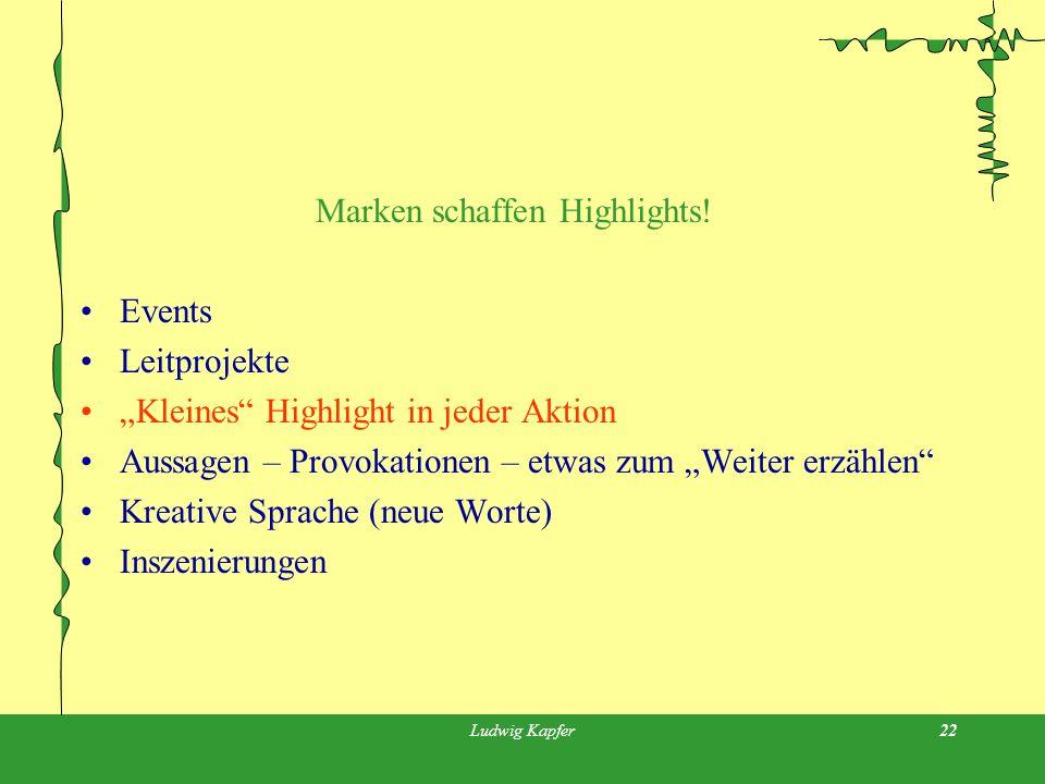 Ludwig Kapfer22 Marken schaffen Highlights.
