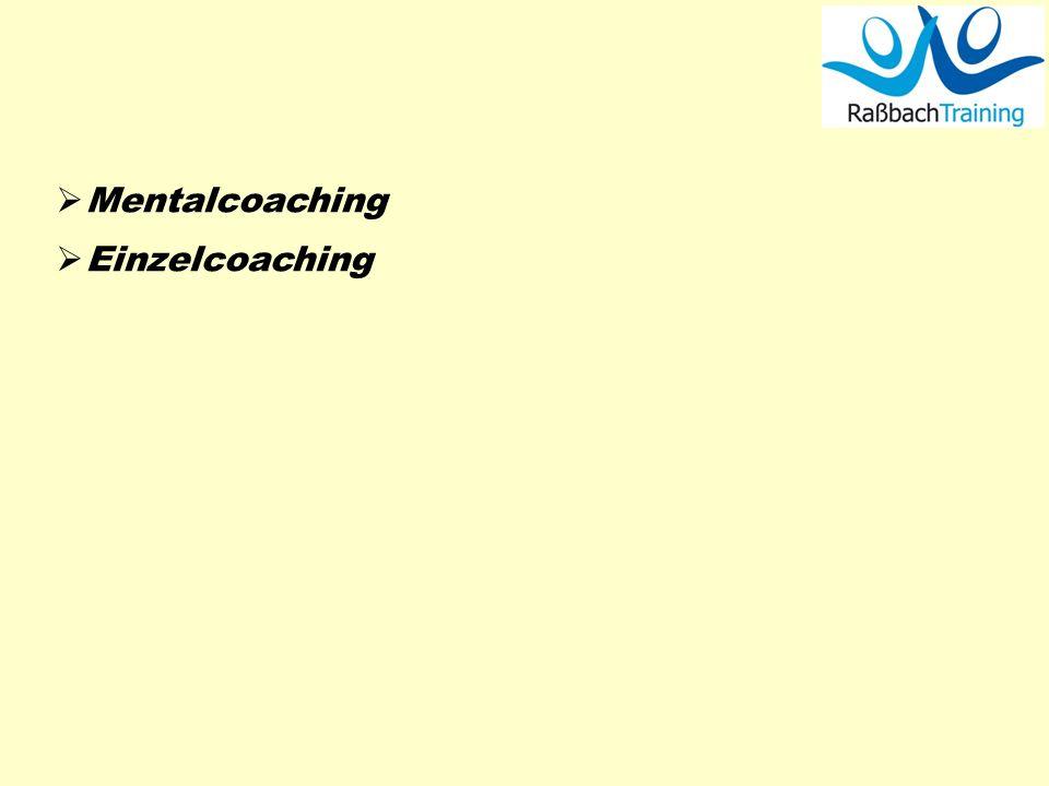 Mentalcoaching Einzelcoaching