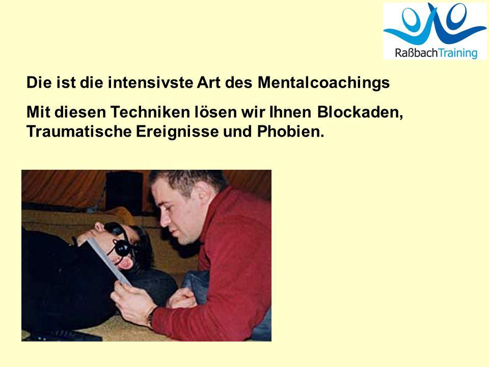 Die ist die intensivste Art des Mentalcoachings Mit diesen Techniken lösen wir Ihnen Blockaden, Traumatische Ereignisse und Phobien.