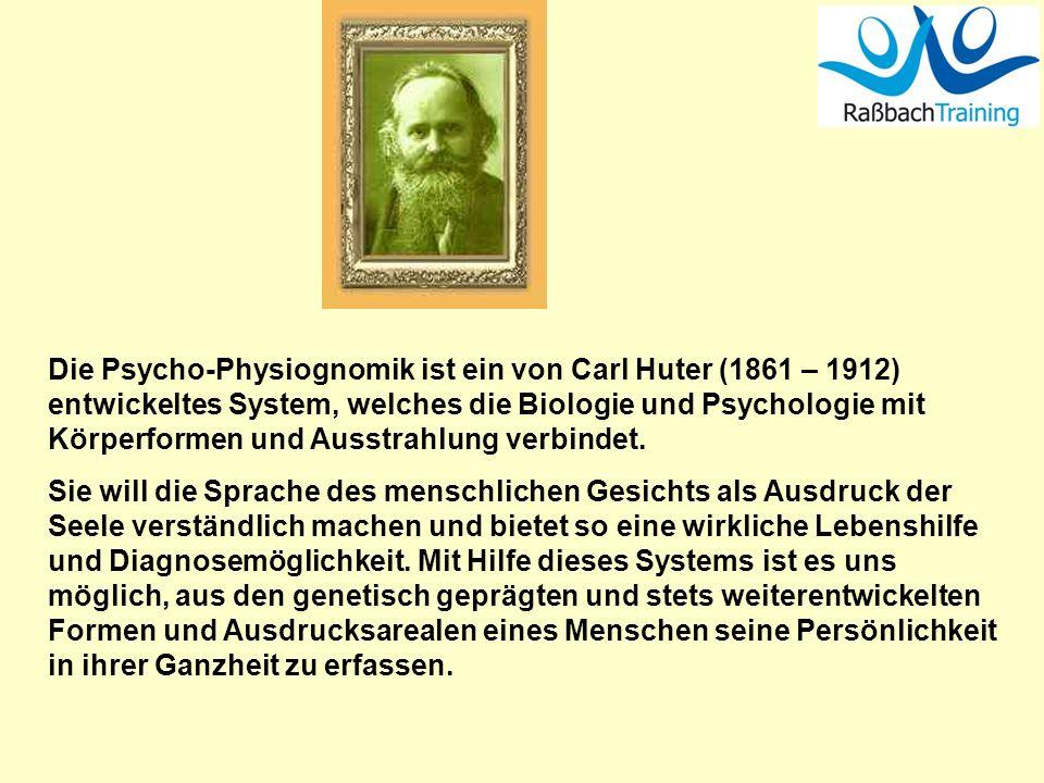 Die Psycho-Physiognomik ist ein von Carl Huter (1861 – 1912) entwickeltes System, welches die Biologie und Psychologie mit Körperformen und Ausstrahlu