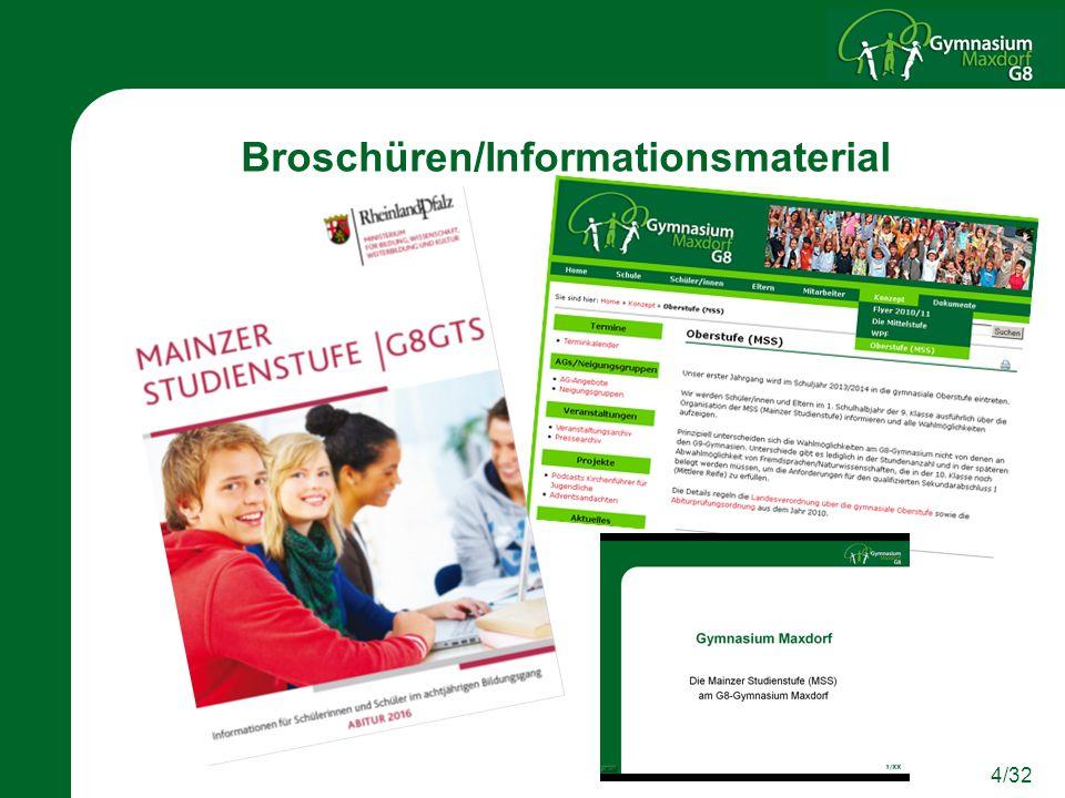 4/32 Broschüren/Informationsmaterial