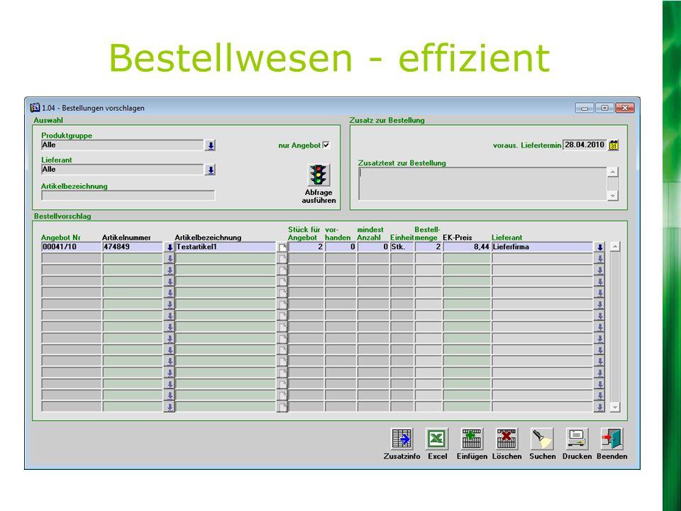 Bestellwesen - effizient