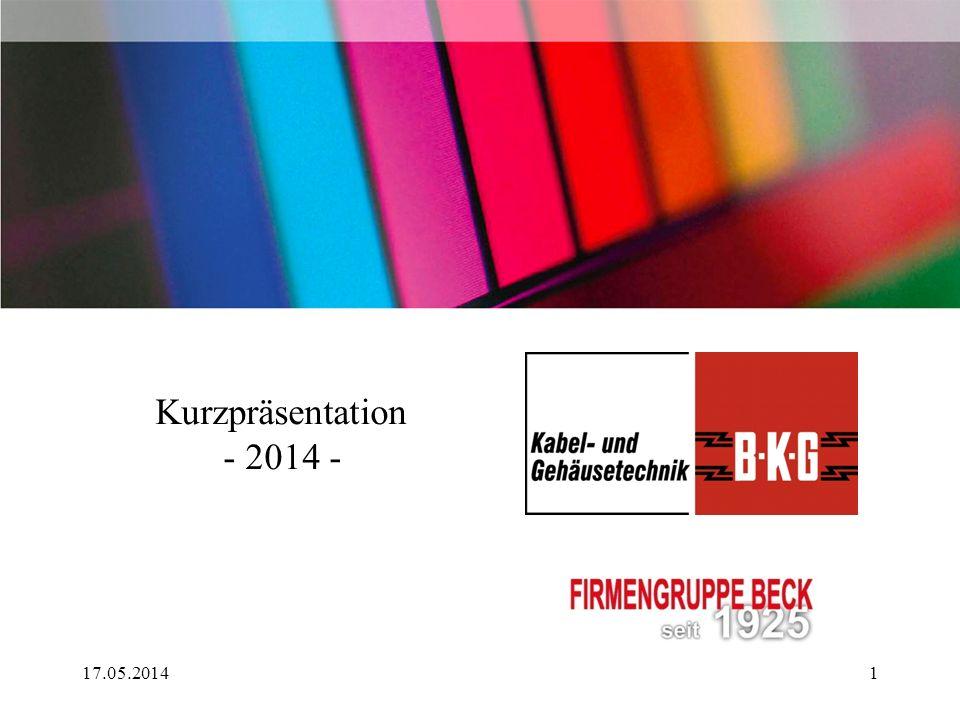 Kurzpräsentation - 2014 - 17.05.20141
