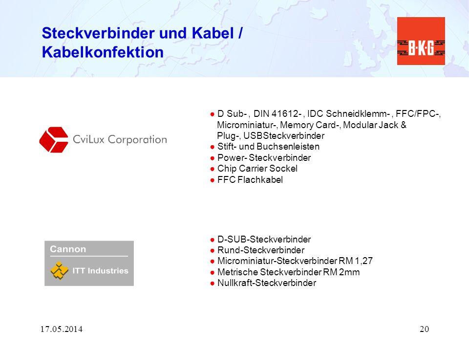 Steckverbinder und Kabel / Kabelkonfektion D Sub-, DIN 41612-, IDC Schneidklemm-, FFC/FPC-, Microminiatur-, Memory Card-, Modular Jack & Plug-, USBSte